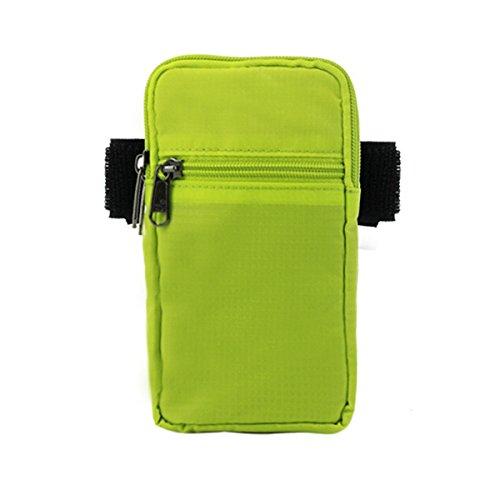 Zhudj indossare cintura tasche _ 2017nuovo abbigliamento borsa tasca cintura braccio braccio pollici impermeabile corsa grande schermo del telefono mobile, Black green