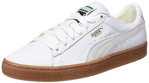 Puma Basket Classic Gum Deluxe, Scarpe da Ginnastica Basse Unisex – Adulto, Bianco White, 46 EU