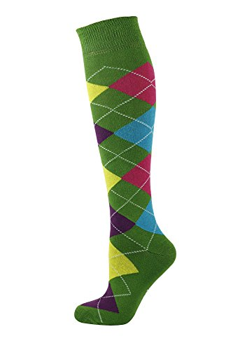 Mysocks® Unisex Knee High Argyle Socks with Extra Fine Combed Cotton Test