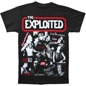 Rockabilia Exploited Collage Nero T-Shirt Small