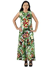 Fashion Parakeet | Multicolored printed sleeveless | Long Maxi Dress