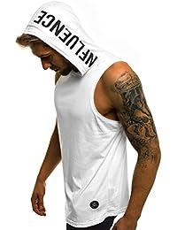 OZONEE Mix Herren Tanktop Tank Top Tankshirt T-Shirt Kapuzenpullover Unterhemden Ärmellos Muskelshirt Fitness Sommer Basic Kurzarm MAD/2537