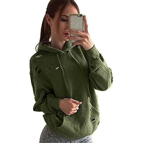 Xinantime Maniche Lunghe Cappotto Basic Felpe con cappuccio Donna Jumper Maglioni Crop Top Coat Sport Pullover Tops