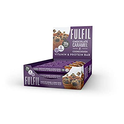Fulfil Chocolate Caramel & Cookie Dough Vitamin and Protein Bar - Pack of 15 from Fulfil