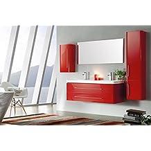 Amazon.fr : meuble salle de bain rouge