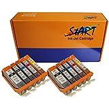 10 XL Cartouches d'encre compatibles avec Puce remplace Canon PGI-550BK XL Noir, CLI-551BK XL Photo-Noir, CLI-551C XL Cyan, CLI-551M XL Magenta, CLI-551Y XL Jaune