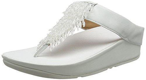 FitFlop Damen Rumba Toe-Thong Peeptoe Sandalen, Weiß (Urban White 194), 39 EU