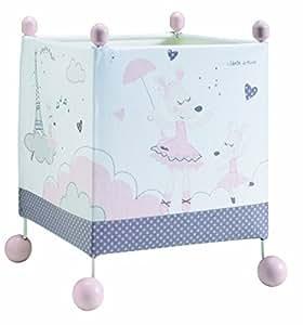 SAUTHON BABY DECO - Lampe de chevet carrée lilibelle