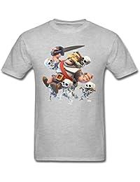 Herren's Clash Royale Knight And Skeletons T Shirt XXXXL