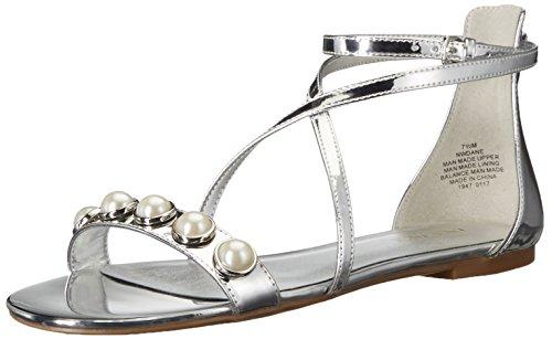 Nine West Damen Nwdane3 Riemchensandalen Grau (Silver #6)