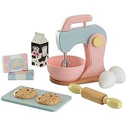 KidKraft 63371 Ensemble cuisine et pâtisserie en bois Couleurs pastel Accessoires pour enfant