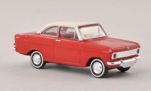 Opel Kadett A Coupe, rot/weiss , Modellauto, Fertigmodell, Brekina Drummer 1:87