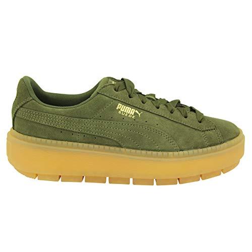 Puma Basket Platform Trace Sneaker Damen, Green, 40 EU