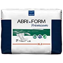 Abena Abri-Form Premium All-In-One Incontinence Pad, X-Large 2 (Hip/Waist Size 110-170 cm) 3400 ml Absorbency, Pack of 20