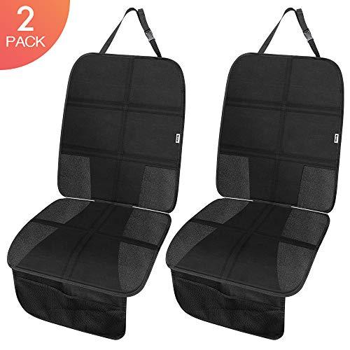 Rovtop 2 pack proteggi sedile auto, coprisedile bambini,per proteggere la tappezzeria in pelle del veicolo,adatto per isofix - antiscivolo, facile da pulire e fissare(neri)