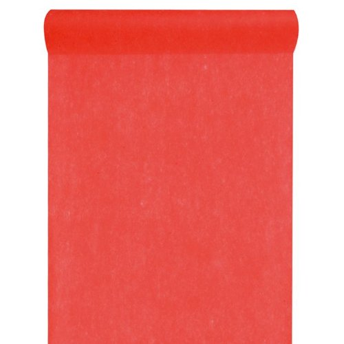 Artificielles - Chemin de table rouge uni en tissu non tisse 30 cm x 10 m - choisissezvotrecoloris: chemin de table roug