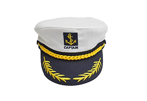 sene Stickerei Kostüm Zubehör Seemann Kapitän Hut (Seemann-kostüm Für Frauen)