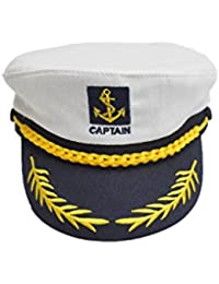niceEshop(TM) Adult Yacht Boat Embroidery Sailor Marine Captain Costume Hat