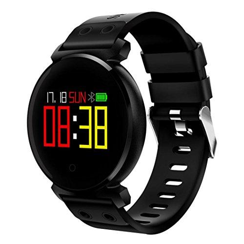 Bescita Bluetooth Smartwatch Uhr Intelligente Armbanduhr Wasserdicht Fitness Tracker Armband Sport Uhr mit/Kamera/Blutdruck-Test/Telefon finden/Schrittzähler/Herzfrequenz-Messgerät/Schlaftracker/Romte Capture Kompatibel mit Android/iOS (Schwarz)