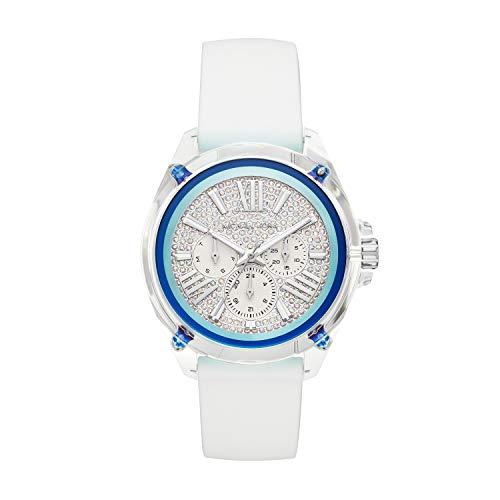 Michael Kors Damen Analog Quarz Uhr mit Silikon Armband MK6679 (Kors Silikon Michael)