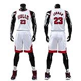 Daoseng Niño NBA Michael Jordan # 23 Chicago Bulls Retro Pantalones Cortos de Baloncesto Camisetas de Verano Uniformes y Adulto Tops de Baloncesto