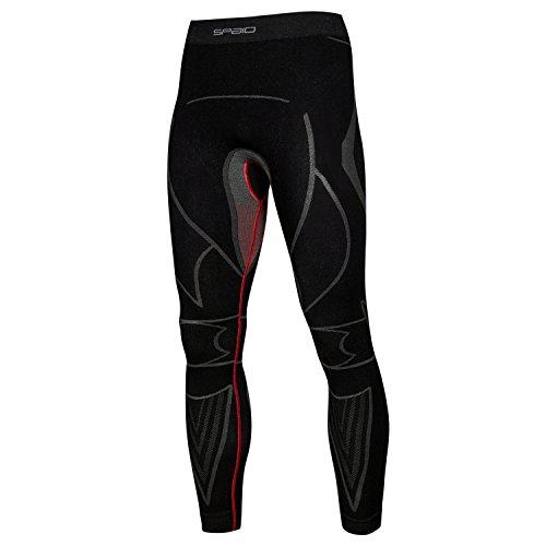 Spaio Extreme Line Herren Thermohose Funktionswäsche Skiunterwäsche Hose XL (Mikrofaser Leichte Leggings)