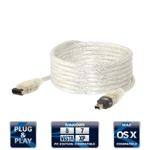 Sabrent SBT-CF64 Firewire IEEE 1394 6-pin to 4-pin Cable (6 FEET)  available at amazon for Rs.961