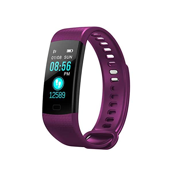 Milnnare Reloj Inteligente Presión Arterial Frecuencia cardíaca Monitor de sueño Podómetro Sports Fitness Smart Pulsera - Purple 1