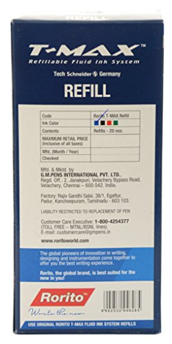 Rorito T Max Gel Ink Refill Pack Of 20 Refills Office