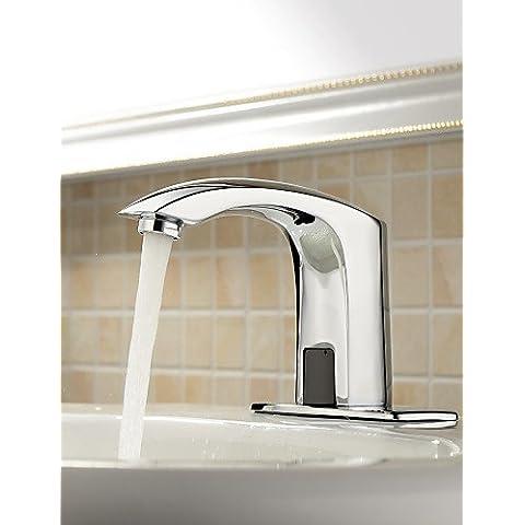 UZI-nichel spazzolato bagno lavello con rubinetto cascata di vetro beccuccio