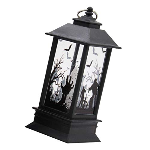 FLAMEER Vintage Stil Hängeleuchten Kürbis Geister, langlebig und hohe Qualität - D: Geisterhandlampe