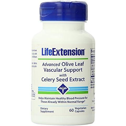 Soporte Avanzado de hoja de olivo vascular con extracto de semilla de apio - Extensión de la Vida