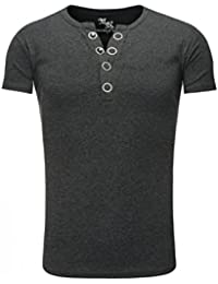 Young and Rich - Tee shirt gris foncé homme Young and Rich 1-872 Gris