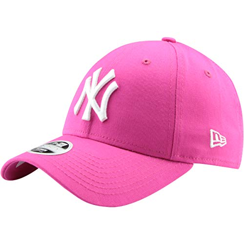New Era 9Forty Unisex Damen Herren MLB League Essential/Brand Logo 940 Adjustable Cap Strapback Cap Baseball Cap mit 7kmh Aufkleber, OSFM, A1 NY Pink 5205