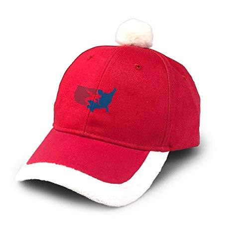 ewretery Santa Baseball Cap,USA Wrestling Christmas Baseball Cap