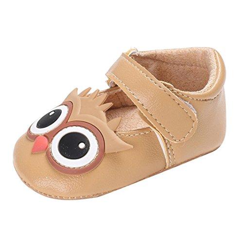 JERFER Baby Kind Kinder Mädchen Weiche Sohle Krippe Kleinkind Neugeborenen Schuhe 0-18M (12~18 M, Khaki)