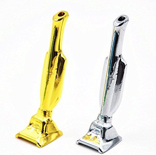 Staubsauger Röhrchen Miniatur Höhe 6cm Silber Snuff M&M Smartek verschiedene Farben (Silber)