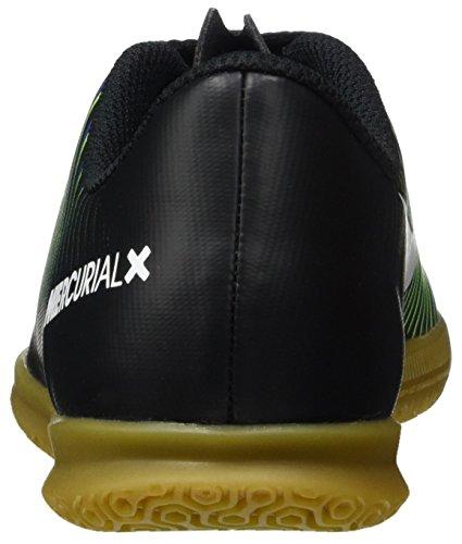 Nike 831953-013, Scarpe da Calcetto Bambino Nero (Black/wht-elctrc Grn-prmnt Bl)
