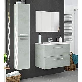 415gU03O2pL. SS324  - Miroytengo Pack Muebles baño Plutón diseño Moderno (Mueble Baño+Espejo+Columna+Lavabo Cerámica)