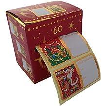 Weihnachtssticker Set, 60-tlg. mit 10 verschiedenen Motiven