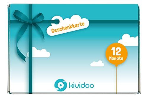 kividoo Geschenkgutschein Box | Kinder Hörspiele, Serien und Filme jederzeit auf Abruf | 12 Monate gültig