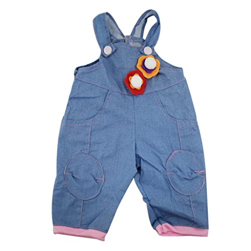 Homyl Modische Puppe Jeans Hosenträger / Kleid / Top+Hose Outfit Bekleidung Set Für 18 ''American Girl Puppen - # 3