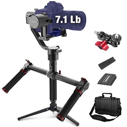 MOZA Air Gimbal Stabilisator für DSLR und spiegellose Kamera, mit Moza Daumenregler und Doppelgriff, automatische Tuning Mimic Control -