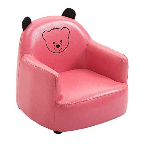 DULPLAY Leder Mini Sofa für Kinder, Kinder Sofa Armlehnen-Stuhl Faule Kinder Sofas Liege Einzel-sitzer Für kindermöbel -C 54x56x47cm(21x22x19inch) -