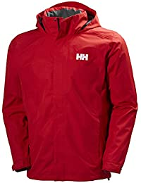 Helly Hansen Dubliner - Chaqueta con capucha para hombre, color rojo, talla XXXXL