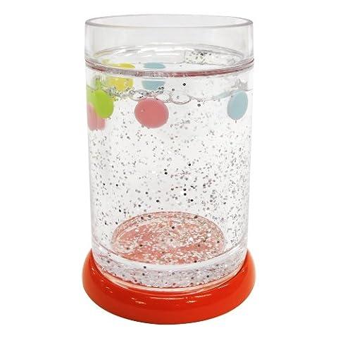 Allure Home Creations Gumball 100% coton 3pièces Ensemble de toilette, Plastique, Red, TUMBLER