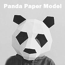 GORDESC 1 SET Panda 3D Puzzle Modelo de papel Lindo Partido Cosplay Animal Máscara Pandaman Origami
