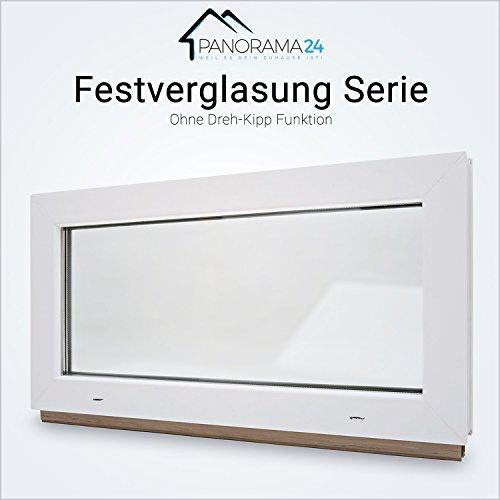 Kellerfenster - Kunststoff - 60mm Profil Festverglasung (FIB) - weiß - 2-fach-Verglasung - BxH: 80x40 cm - verschiedene Maße - schneller Versand