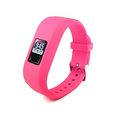 Tuff-Luv Silikon Ersatzarmband Uhrenarmband Armband Schlaufe für Garmin VivoFit 3 - Rosa (Einheitsgröße)