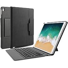 OMOTON iPad Pro 10.5 Funda con Teclado Bluetooth Español, Compacta Funda de Cuero, Teclado con Funda y Soporte para iPad Pro 10.5